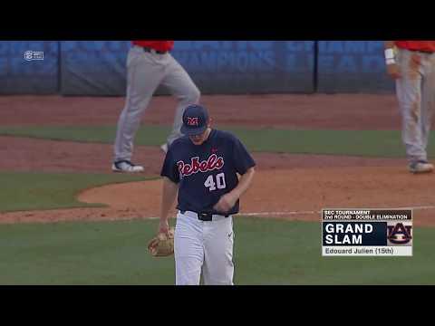 Auburn Baseball vs Ole Miss SEC Tournament Round 2 Highlights