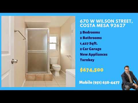 Clean 3 bed 2 bath Costa Mesa 92627 turnkey with granite countertops