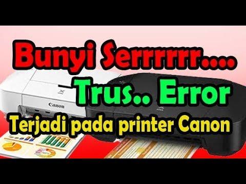 Cara memperbaiki printer canon iP2770 lampu orange kedip 3 kali error paper jammed, saat untuk mence.