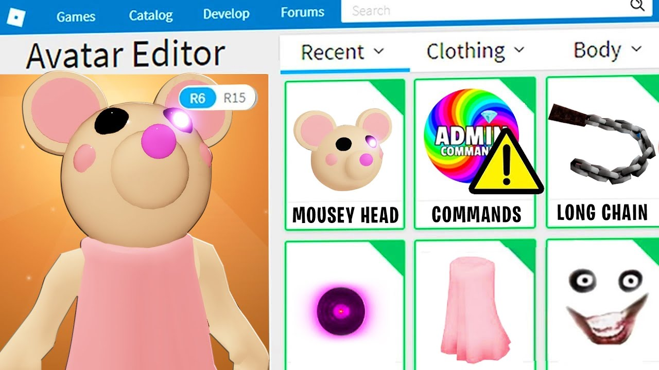 PIGGY DISGUISE TROLLING!! Pretending To Be FAKE MOUSEY PIGGY In ROBLOX PIGGY!! (BOT TROLLING)