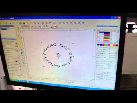 Instruction of how to use XT laser machine mark curved surface
