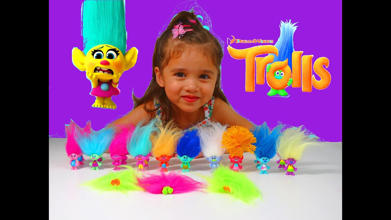 TROLLS DREAMWORKS NEW TOYS Full Unboxing