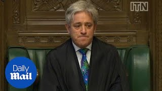 Commons Speaker close to tears after MPs defeat plot to oust him