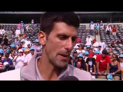 Sony Open Tennis Interview with Djokovic Men's 2014 Champion