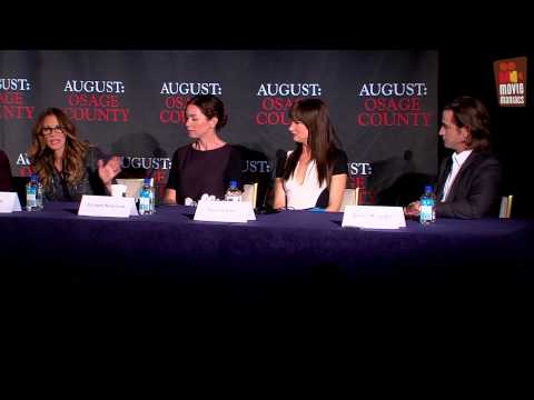 August Osage County | Press Conference (2014) Meryl Streep Julia Roberts