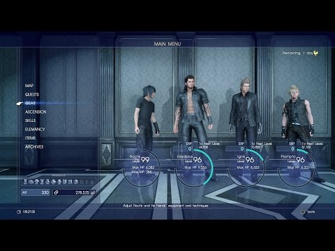 Final Fantasy XV - 1.000.000 XP super fast Lv99! (ita)
