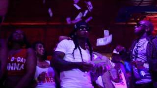 Birdman & Lil Wayne Make It Rain And Celebrate Baby