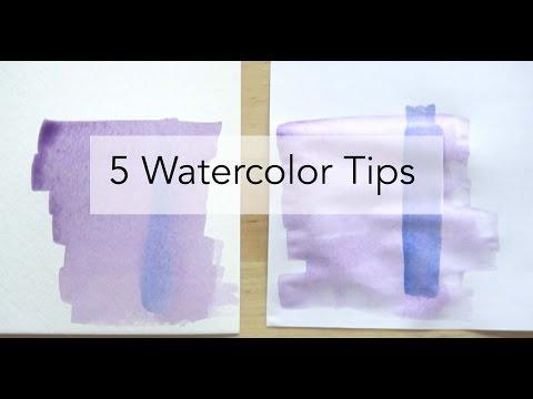 5 Watercolor Tips