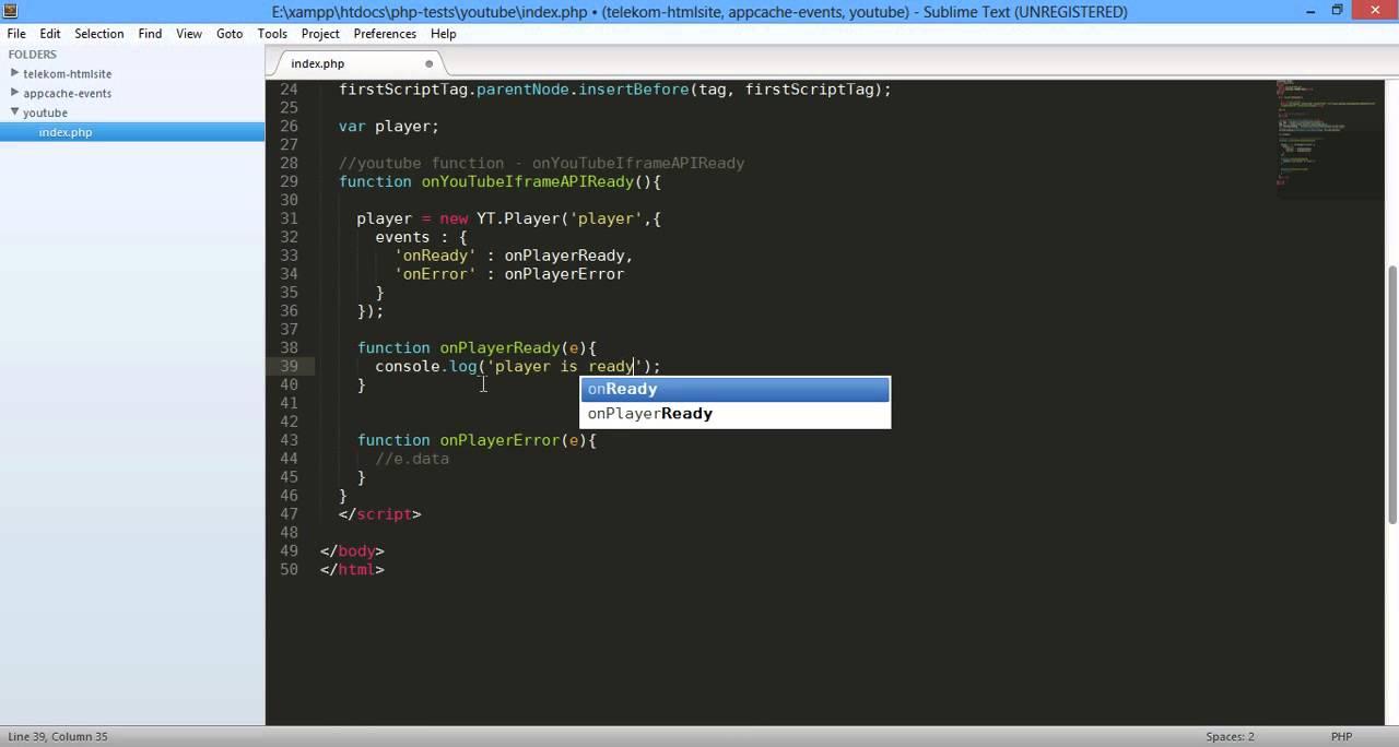 03 Easy Youtube iframe API Error Event error Codes 720p