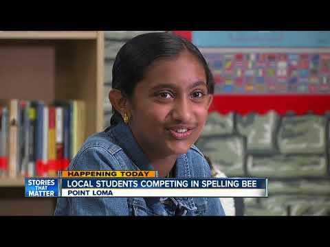 Oak Valley Student Preps for Spelling Bee