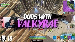 Carried by Valkyrae in our first duo game... (16 Kill Win)