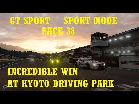 GT Sport -  SPORT MODE - Race 38 - Incredible Win at Kyoto Driving Park - Endurance Race