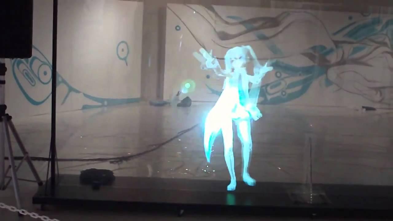 Japanese Dancing Hologram Girl Hatsune Miku Hatsune Miku Hologram Miku