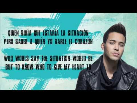 Prince Royce - Dilema (VideoLetra) 2017 + ENGLISH TRANSLATION