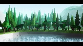 Roblox Studio | Low-poly world | TIMELAPSE #5