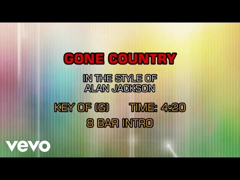 Alan Jackson - Gone Country (Karaoke)