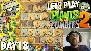Plants vs. Zombies 2: Ancient Egypt Level 18: Plan Your Defense! (iOS Face Cam)