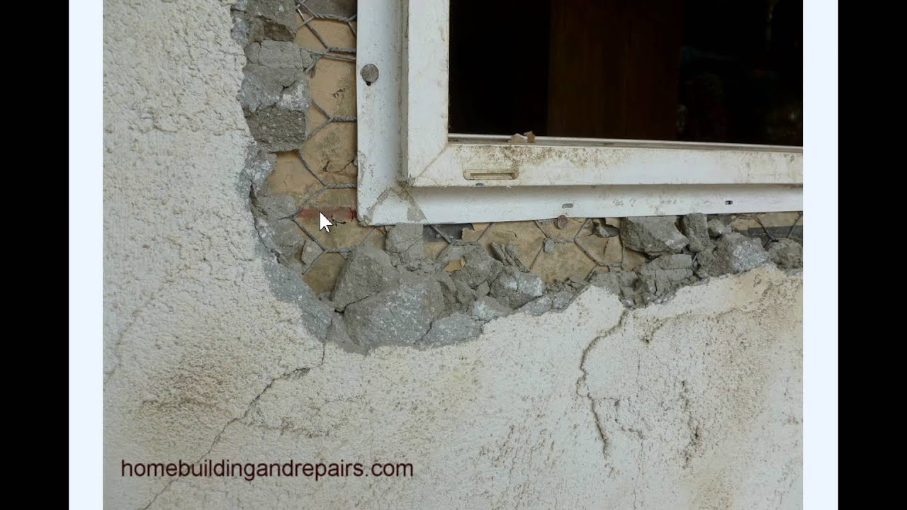 How not to install window in exterior stucco wall Exterior wall plaster design