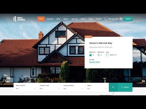 How To Make A Real Estate Listing, Directory & Classified Website With WordPress - Real Homes Theme