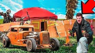 BUILDING A  ZOMBIE SURVIVAL CAR BOX FORT (24 Hour Challenge)