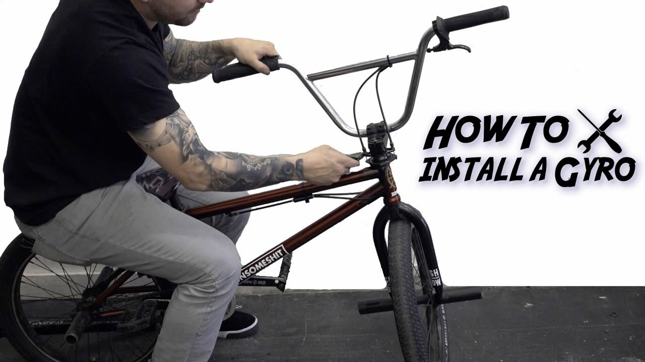How To Install A Bmx Gyro Brake System Youtube