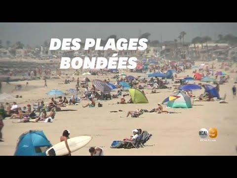 Malgré le coronavirus, des plages de Californie bondées avec la hausse des températures