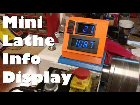 How fast does it spin?? 3d Printed tachometer and ammeter mini lathe display for current amps + RPMs