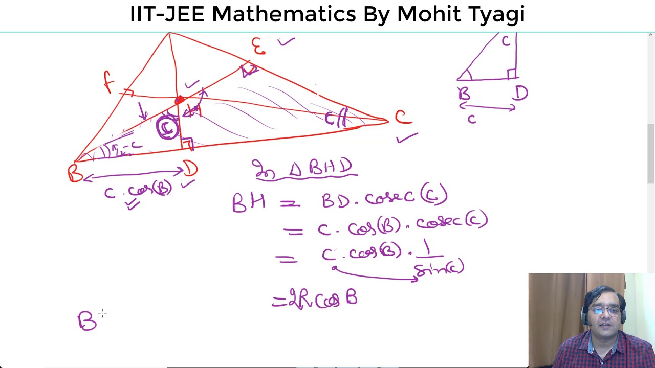 9 Orthocenter In A Triangles Iitjee Online Maths By Mohit Tyagi Diagram 6 Orthocentre Point Generation Advanced 2018