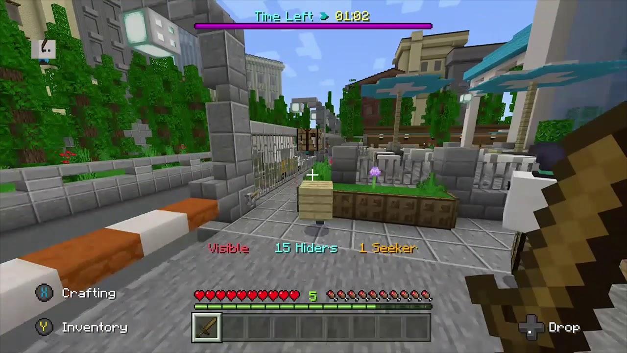 Hilarious Hide and seek Minercaft | Minecraft videos, Food