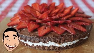 AWESOME STRAWBERRY CAKE RECIPE WITH NUTELLA AND RICOTTA
