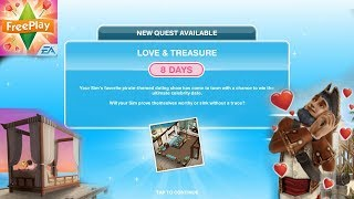 Simsfreeplay - Love and Treasure Quest(Discovery Quest)Love & Treasure Update