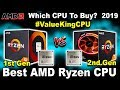 [Compared] Best AMD Ryzen CPU (1st vs 2nd Gen) 🔥 Ryzen 3 vs Ryzen 5 vs Ryzen 7 🔥 Gaming + Streaming