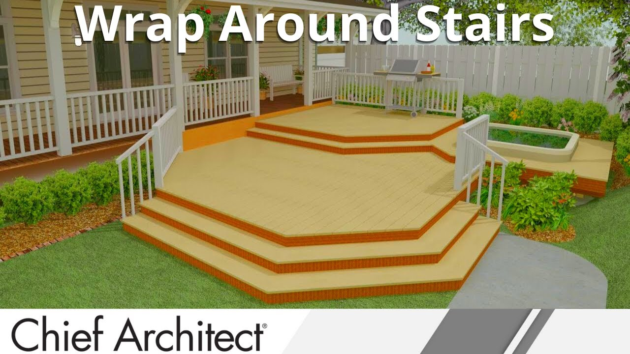 Beau Chief Architect Quick Tip   Wrap Around Stairs   YouTube