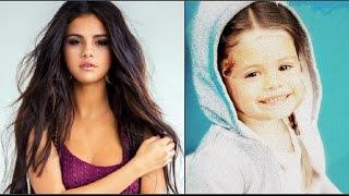 Селена Гомес в детстве и сейчас