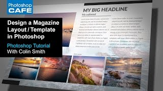 Het maken van een magazine layout Template in Photoshop Tutorial | Download de Gratis Template