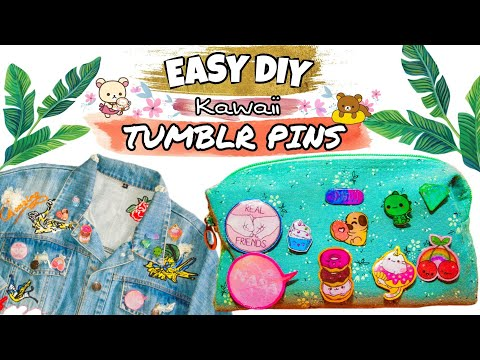 DIY TUMBLR PINS ✨ Easy, Kawaii, and Affordable using UV RESIN / DIY Hacks / DIYbyRuffa