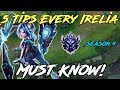 5 THINGS EVERY IRELIA PLAYER NEEDS TO KNOW! League of Legends Irelia Guide Season 9 2019
