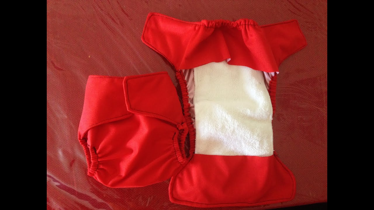 youtube how to make diaper cover