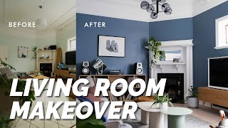 Extreme Diy Living Room Makeover! Luxe Modern Look: Before & After Room Reveal & Styling Tips! ⚒️