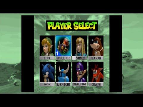 Mario Kart 64 without Mario, but with Link, Skull K., Samus, Banjo, Sonic, Shovel Knight,  etc.