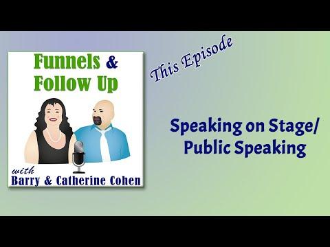 Speaking on Stage / Public Speaking