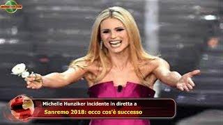 Michelle Hunziker incidente in diretta a  Sanremo 2018: ecco cos'è successo