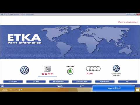 Audi   Skoda   Seat   VW  ETKA كتلوجات السيارات اودي سكودا سيات فلكس ويجين