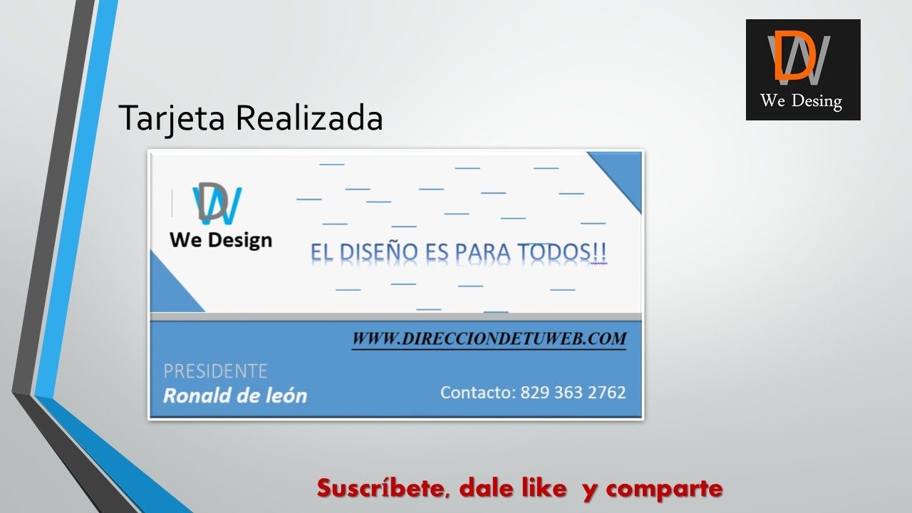 c31be9db324df como hacer una tarjeta de presentacion en word - YouTube