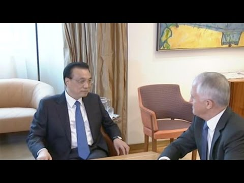 Li Keqiang looks to enhance free trade and boost cooperation with Australia