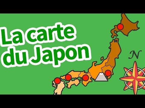 La carte du Japon