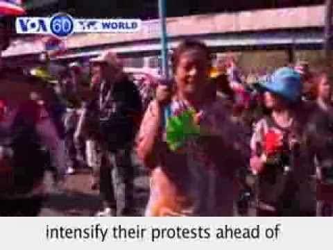 Thailand: Anti-government protests intensify ahead of election- VOA60 World