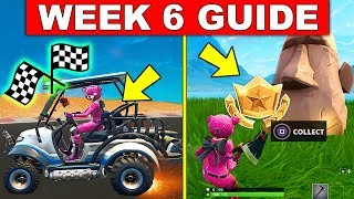 Fortnite WEEK 6 CHALLENGES GUIDE! – SEARCH WHERE THE STONE HEADS ARE LOOKING, COMPLETE TIMED TRIALS