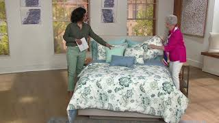 Home by SHR Floral Cotton Comforter Set with 3 Pillows on QVC