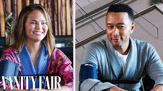 John Legend And Chrissy Teigen Take A Lie Detector Test | Vanity Fair